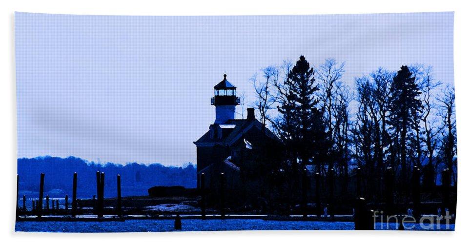 Lighthouse Beach Towel featuring the photograph Blue Monday by Joe Geraci