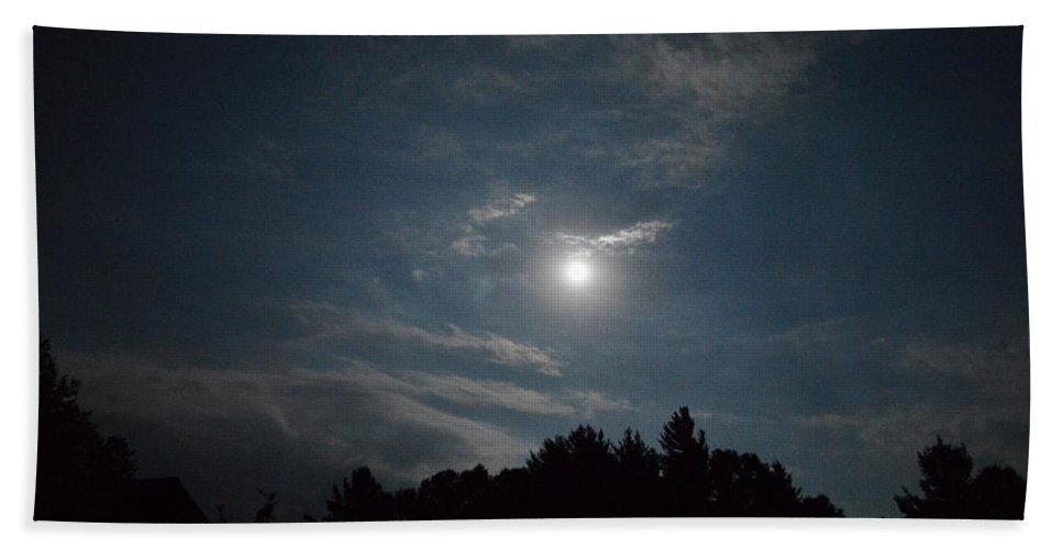 Blue Moon Beach Towel featuring the photograph Blue Moon by Thomas Phillips