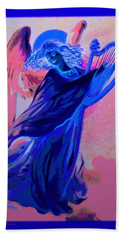 Angel Beach Towel featuring the photograph Blue Rhapsody by Joyce Dickens