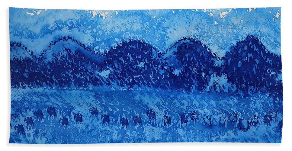 Mountains Beach Towel featuring the painting Blue Ridge Original Painting by Sol Luckman