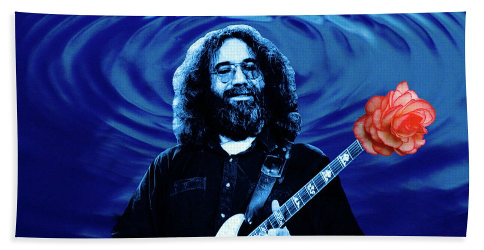 Grateful Dead Beach Towel featuring the photograph Blue Ripple From A Red Rose by Ben Upham