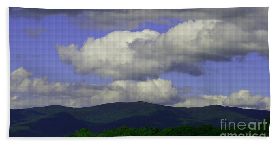 Mountain Landscape Beach Towel featuring the photograph Blue Sky by Neal Eslinger