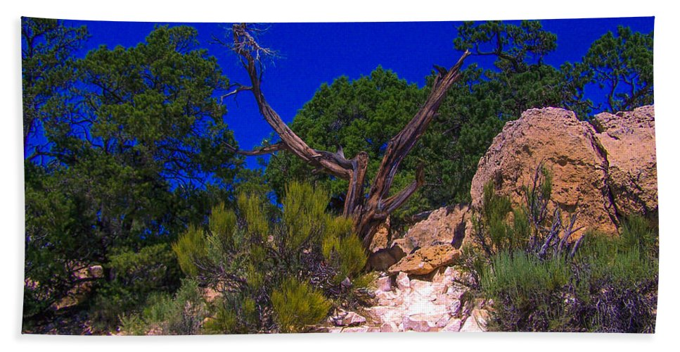 Grand Canyon Beach Towel featuring the photograph Blue Sky Over The Canyon by Dany Lison