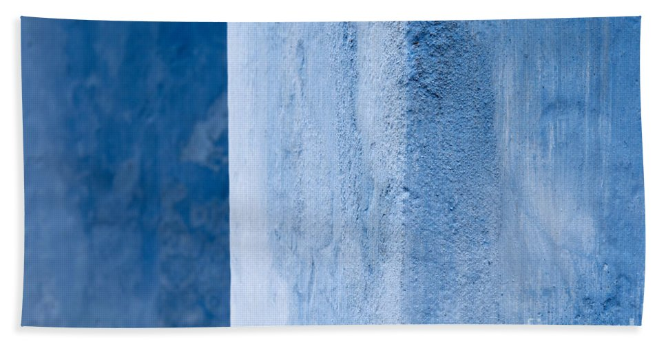 Vietnam Beach Towel featuring the photograph Blue Wall 01 by Rick Piper Photography