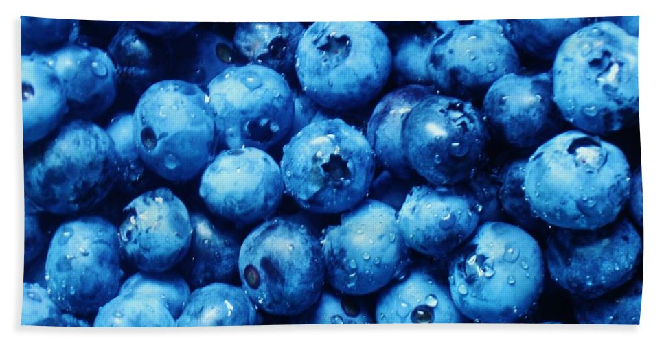 Blueberries Beach Towel featuring the photograph Blueberries by Janell R Colburn