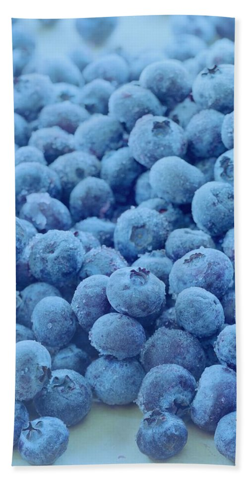 Berries Beach Sheet featuring the photograph Blueberries by Romulo Yanes