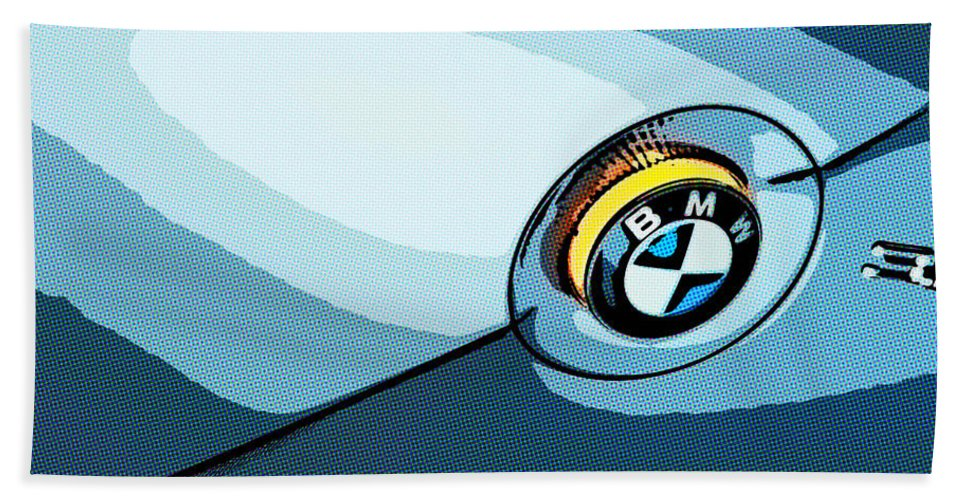 New Beach Towel featuring the painting Bmw 40 by Jeelan Clark