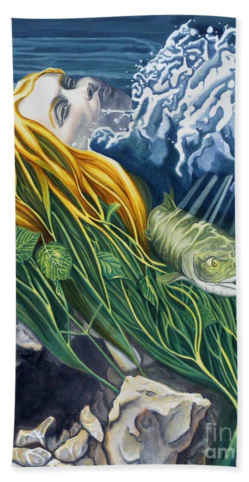Boann Beach Towel featuring the painting Boann Transformation Of A Goddess by Do'an Prajna - Antony Galbraith