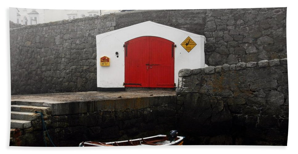 Ireland Beach Towel featuring the photograph Boathouse by Aidan Moran