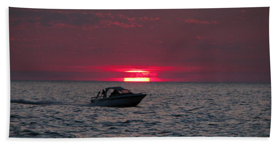 Boating Beach Towel featuring the photograph Boating by Michael Krek
