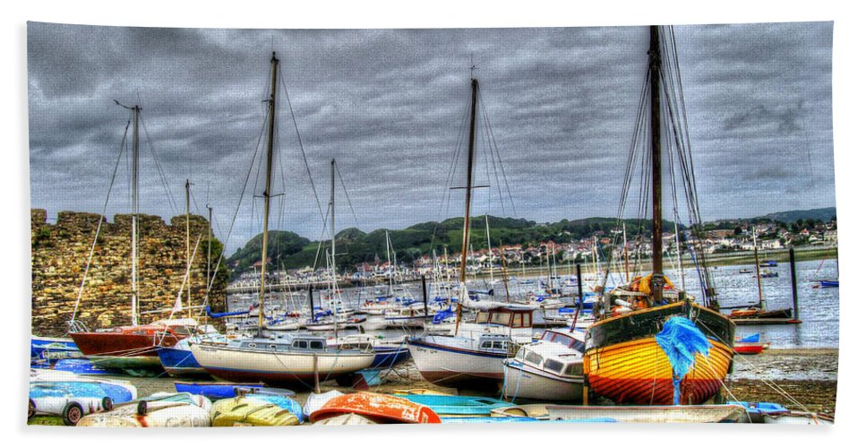 Boat House Beach Towel featuring the photograph Sail Boats by Doc Braham