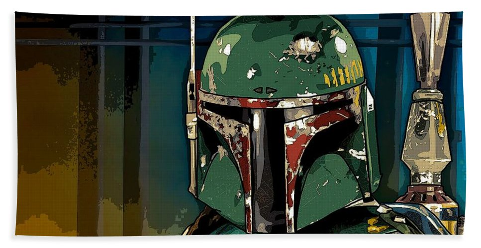 Star Wars Beach Towel featuring the photograph Boba Fett 2 by George Pedro