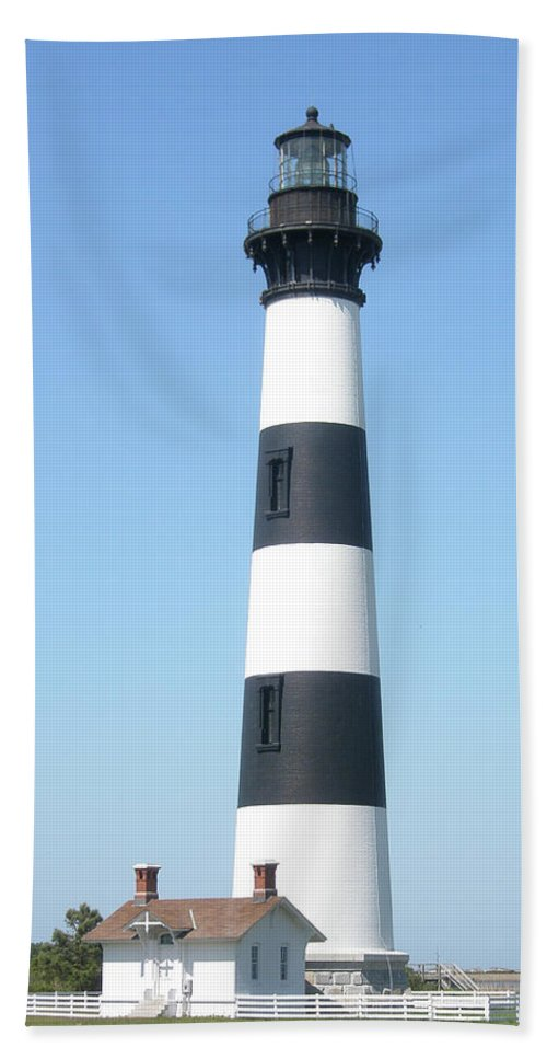 Lighthouse Beach Towel featuring the photograph Bodie Lighthouse - Outer Banks Nc by Mother Nature
