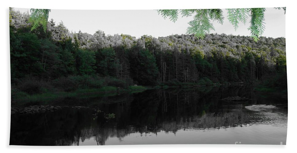 River And Streams Beach Towel featuring the photograph Bog River by Jeffery L Bowers
