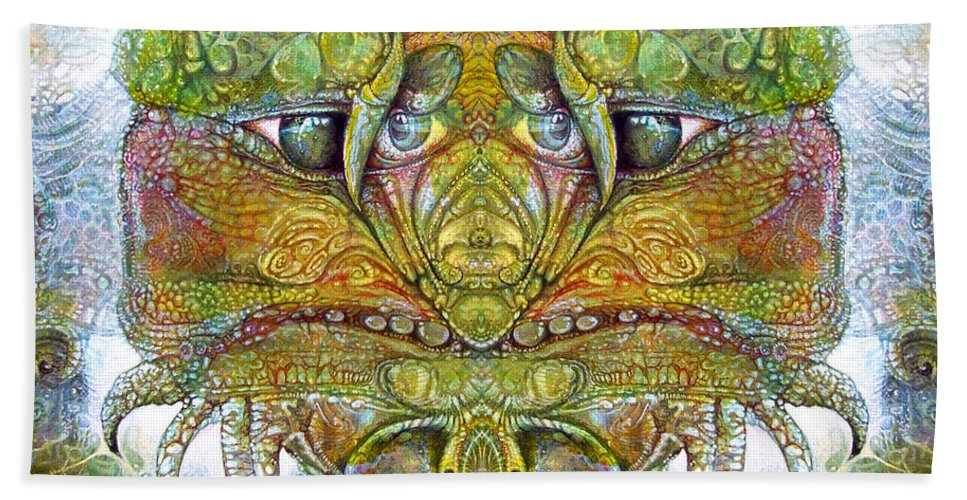 \bogomil Variations\ \otto Rapp\ \ Michael F Wolik\ Beach Towel featuring the digital art Bogomil Variation 11 by Otto Rapp
