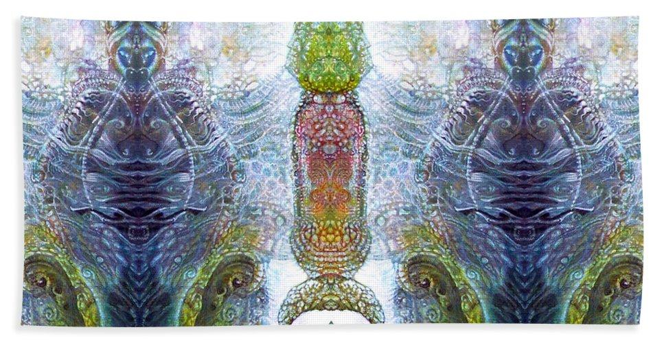 \bogomil Variations\ \otto Rapp\ \ Michael F Wolik\ Beach Towel featuring the digital art Bogomil Variation 13 by Otto Rapp