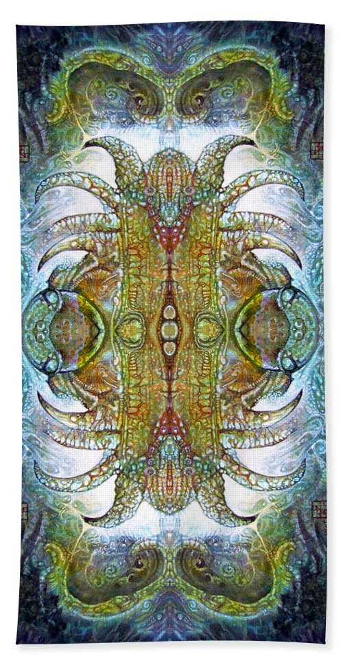 bogomil Variations Beach Towel featuring the digital art Bogomil Variation 14 - Otto Rapp and Michael Wolik by Otto Rapp