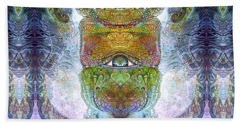 \bogomil Variations\ \otto Rapp\ \ Michael F Wolik\ Surrealism Beach Towel featuring the digital art Bogomil Variation 15 by Otto Rapp