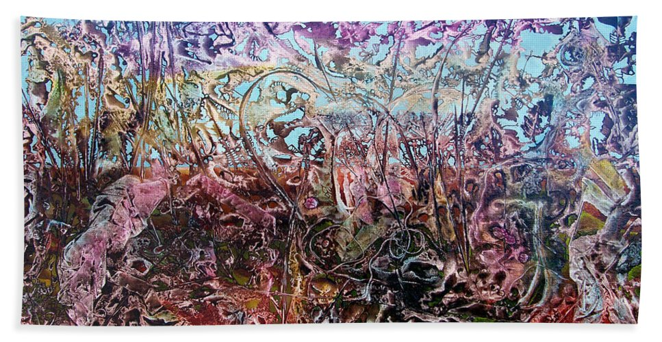 Decalcomania Beach Towel featuring the painting Bogomils Vegetable Garden by Otto Rapp