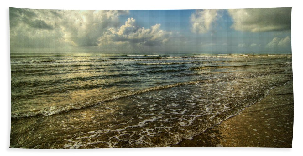 Bolivar Peninsula Beach Towel featuring the digital art Bolivar Dreams by Linda Unger