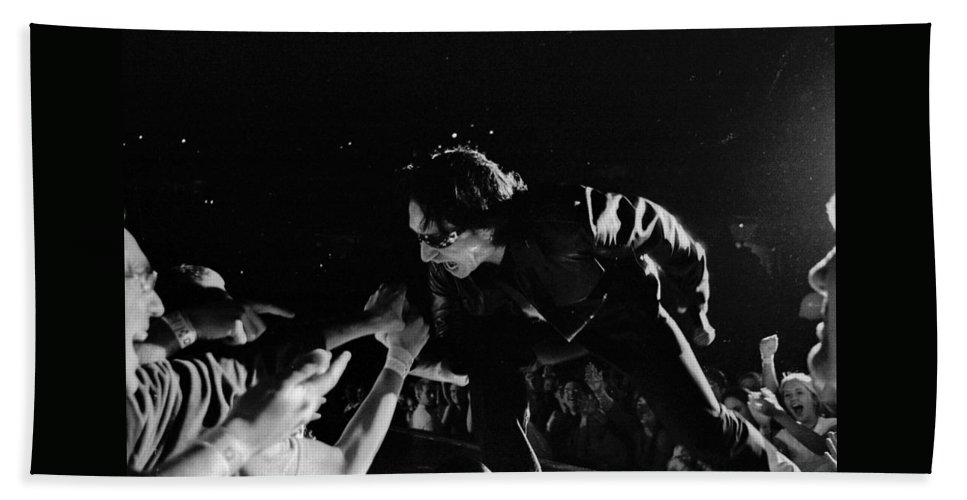 Bono Beach Towel featuring the photograph Bono 051 by Timothy Bischoff