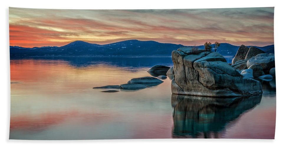 Sunset Beach Towel featuring the photograph Bonsai Sunset 2 by Dianne Phelps