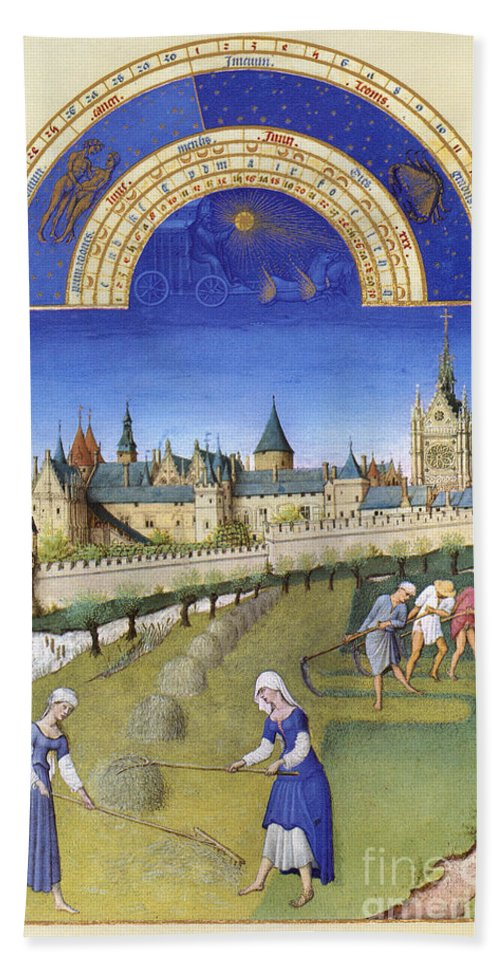 15th Century Beach Sheet featuring the photograph Book Of Hours: June by Granger