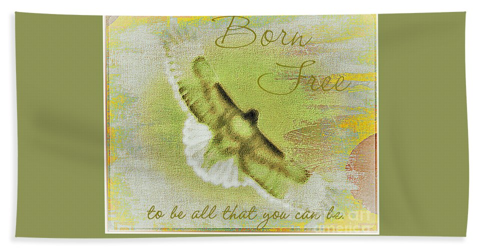 Acrylic Prints Beach Towel featuring the photograph Born To Be Free by Bobbee Rickard