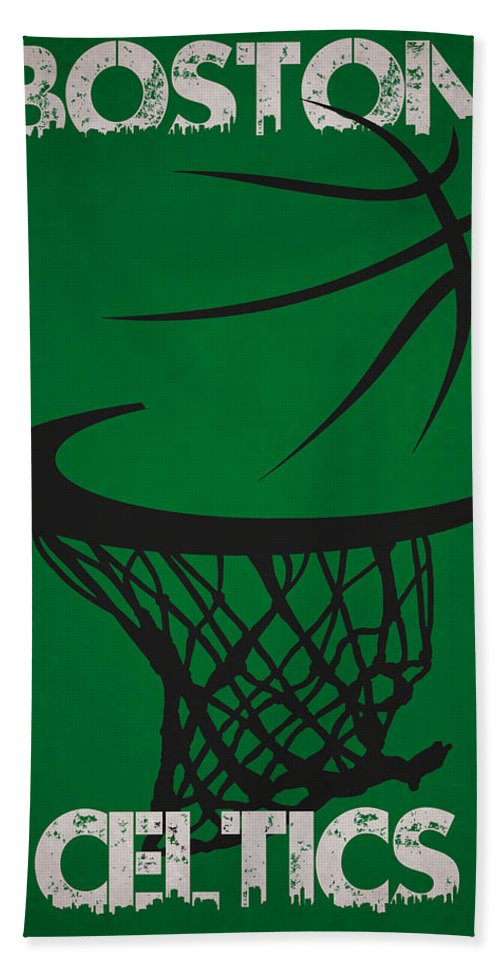 Celtics Beach Towel featuring the photograph Boston Celtics Hoop by Joe Hamilton