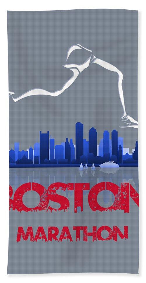 Runner Beach Towel featuring the photograph Boston Marathon3 by Joe Hamilton
