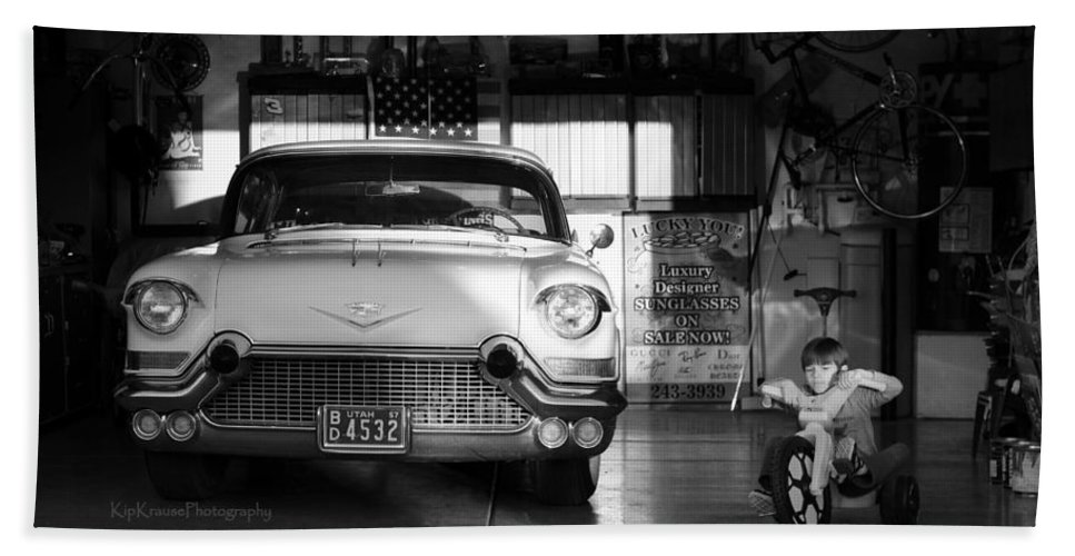 57 Cadillac Beach Towel featuring the photograph Boys Toys by Kip Krause
