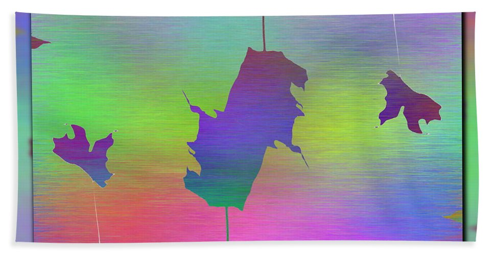 Abstract Beach Towel featuring the digital art Branches In The Mist 61 by Tim Allen