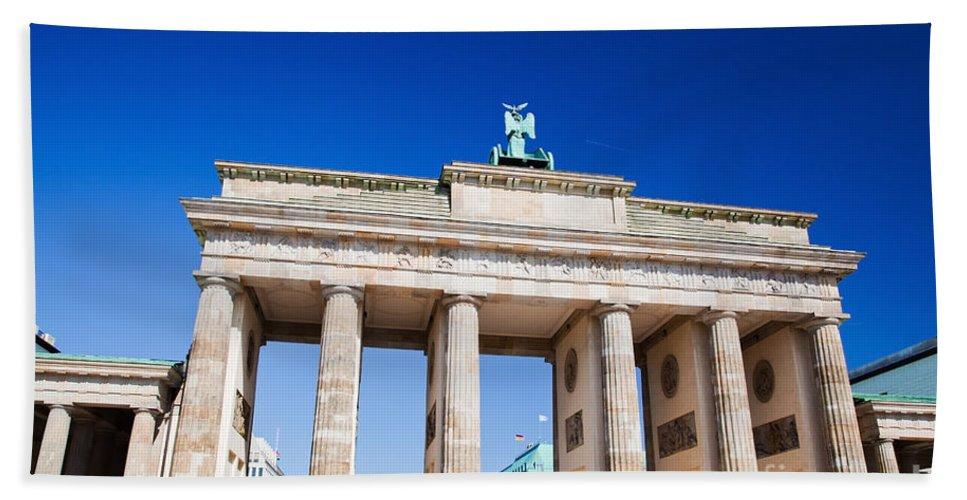 Brandenburg Beach Towel featuring the photograph Brandenburg Gate by Michal Bednarek
