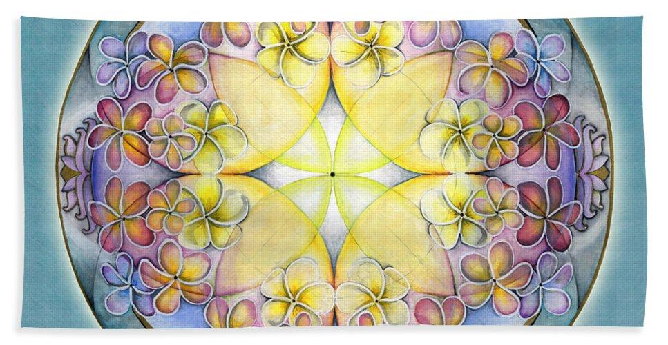 Mandala Art Beach Towel featuring the painting Breath Of Life Mandala by Jo Thomas Blaine