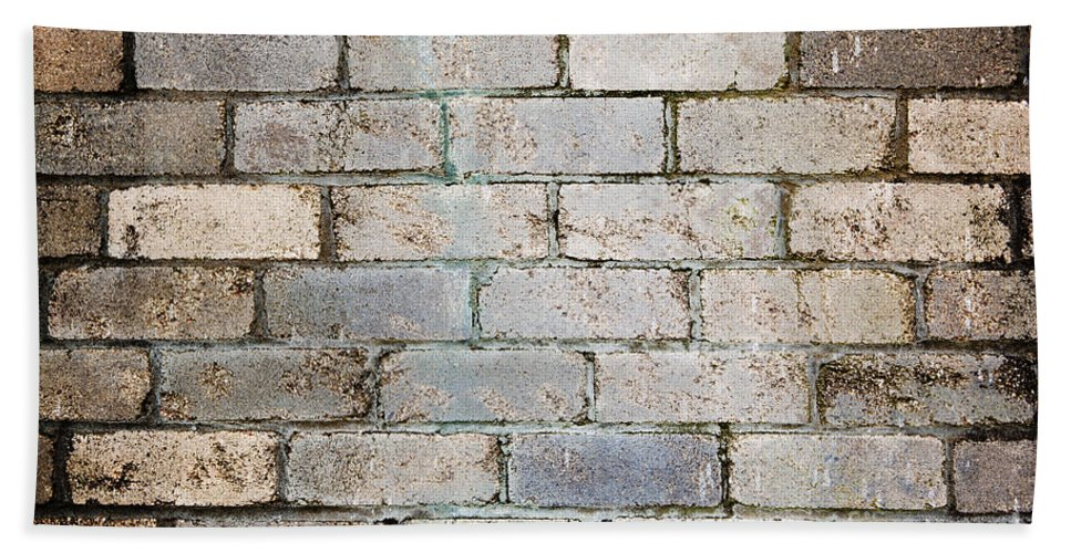 Aged Beach Towel featuring the photograph Brick Wall by Tim Hester