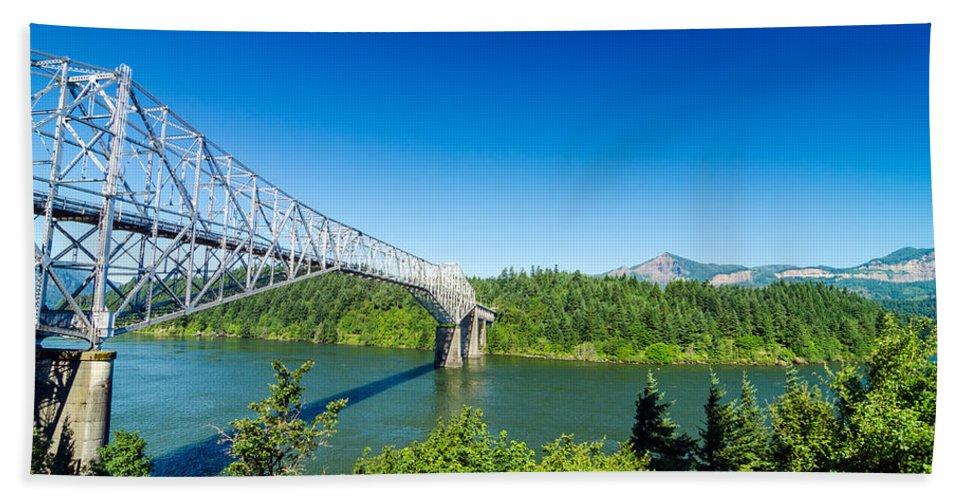 Bridge Beach Towel featuring the photograph Bridge Of The Gods by Jess Kraft