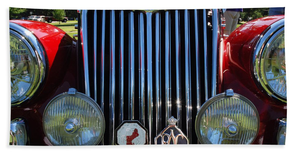 Automobiles Beach Towel featuring the photograph British Classic by John Schneider