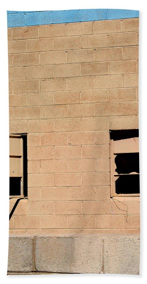 Industrial Desert Beach Towel featuring the photograph Broken Windows by William Dey