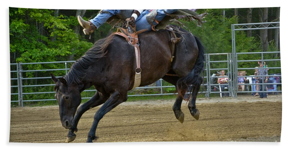 Cowboy Beach Towel featuring the photograph Bronco Cowboy by Gary Keesler