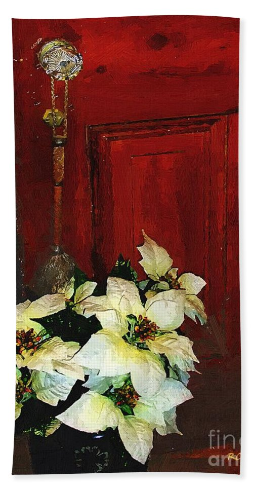 Antiques Beach Towel featuring the painting Broom Closet Christmas by RC DeWinter