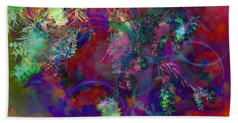 Abstract Beach Towel featuring the photograph Brushing Circles by Meghan at FireBonnet Art