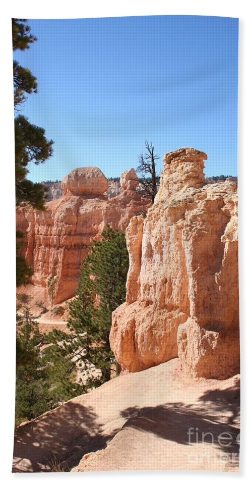 Canyon Beach Towel featuring the photograph Bryce Canyon Red Rocks by Christiane Schulze Art And Photography