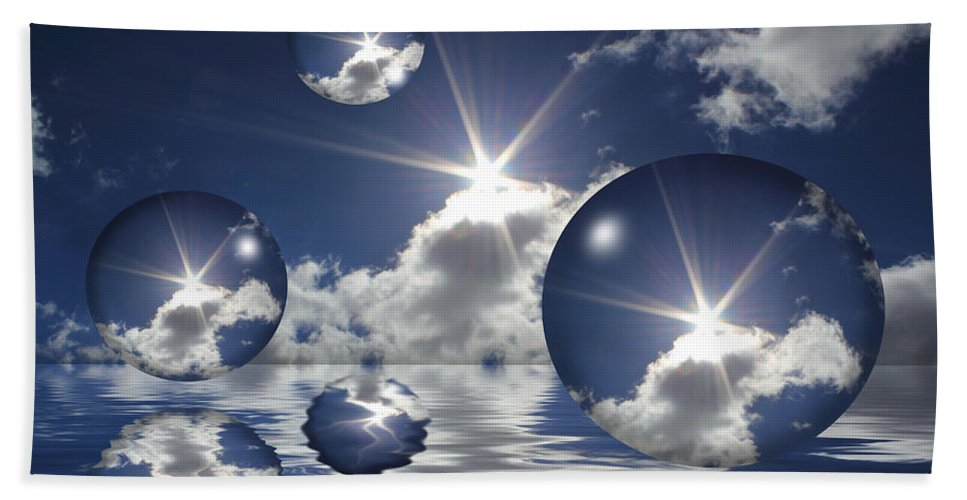 Bubbles Beach Towel featuring the photograph Bubbles In The Sun by Shane Bechler