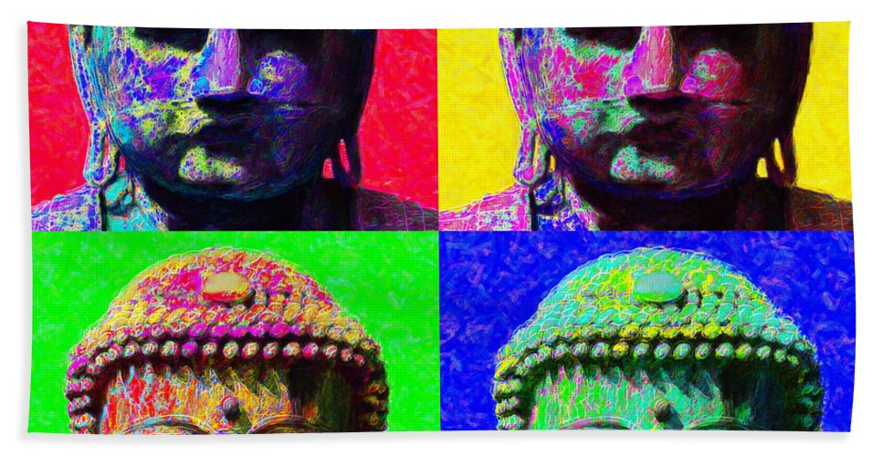 Religion Beach Sheet featuring the photograph Buddha Four 20130130 by Wingsdomain Art and Photography