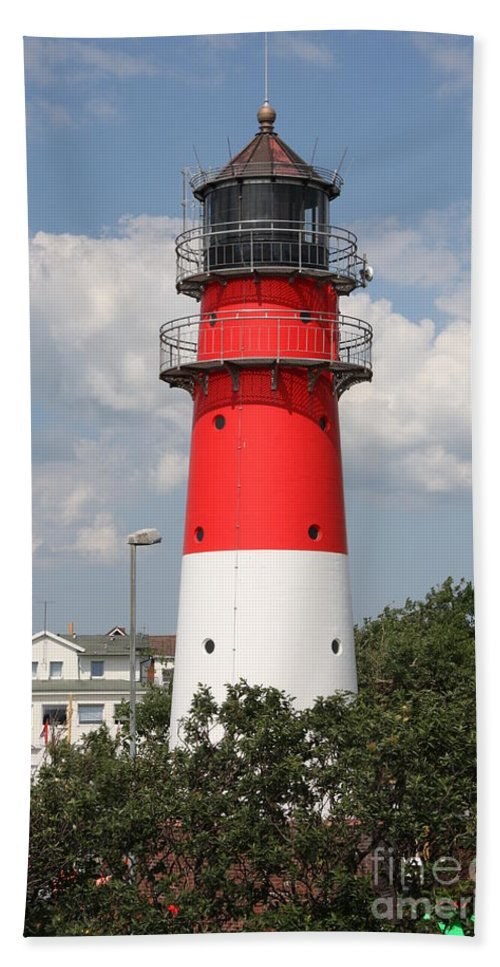 Buesum Beach Towel featuring the photograph Buesum Lighthouse - North Sea - Germany by Christiane Schulze Art And Photography