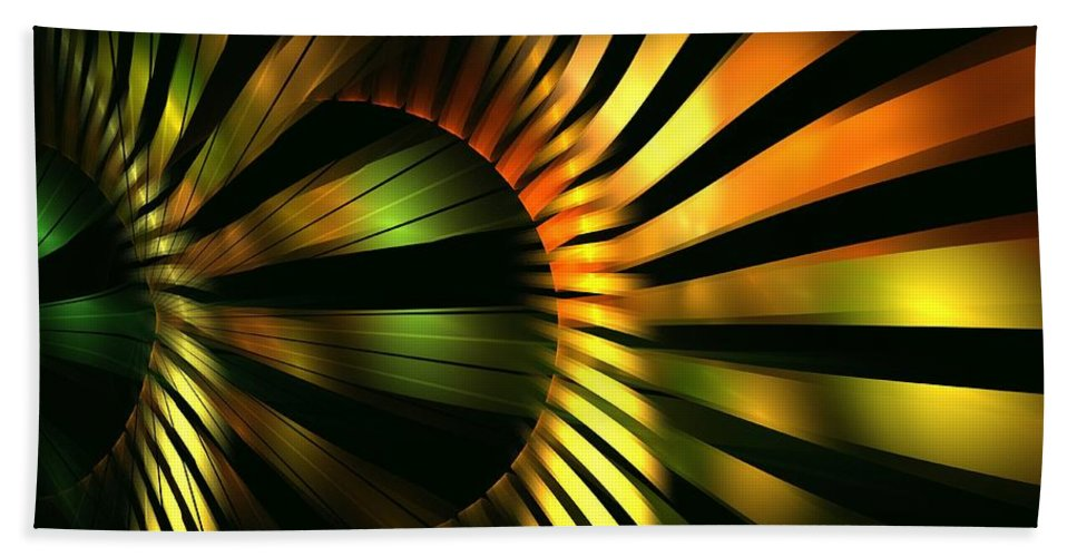 Apophysis Beach Towel featuring the digital art Bulb by Kim Sy Ok
