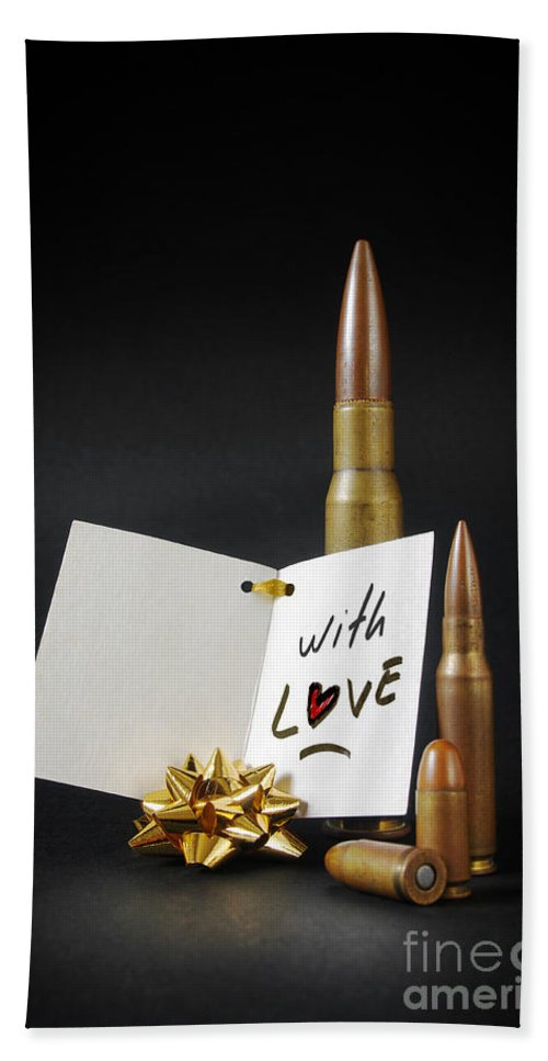 Ammo Beach Towel featuring the photograph Bullets For You by Carlos Caetano