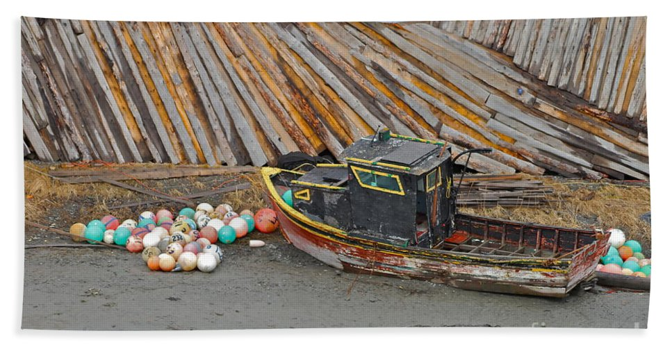 Boat Beach Towel featuring the photograph Buoy Spill by Rick Monyahan
