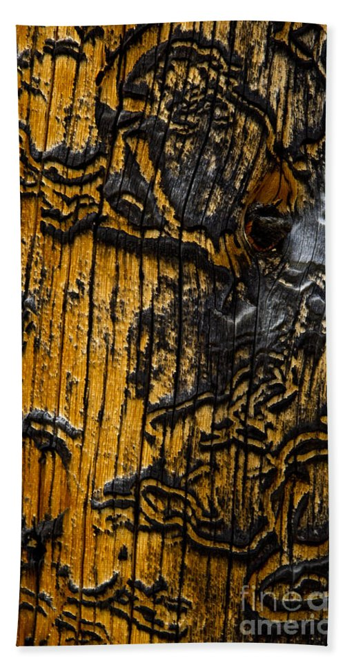 Wood Siding Beach Towel featuring the photograph Burnt Beetle Maze #9991 by J L Woody Wooden