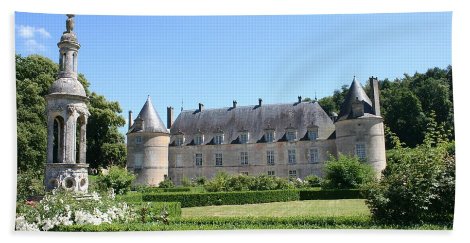 Palace Beach Towel featuring the photograph Bussy - Rabutin Palace Garden by Christiane Schulze Art And Photography